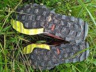 Adidas Kanadia TR 8: Adidas Kanadia TR 8: Despues de casi 300km, la suela sigue al 70%, buen material este Traxion.