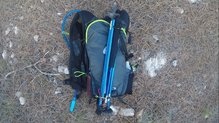 Asics Fujitrail Speed BackPack: Todo queda perfectamente recogido en la Asics Fujitrail Speed Backpack.