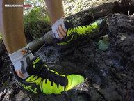 Asics Gel Fuji Endurance: Asics Gel Fuji Endurance: Detalle de las zapatillas recién ensuciadas con barro