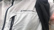 Black Diamond Distance Wind Shell: Black Diamond Distance Wind Shell:  tejido casi transparente pero resistente