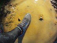 Brooks Cascadia 12: Brooks Cascadia 12, el agua de un charco calará rápido.