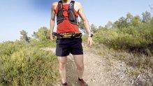 Grivel Trail 3: Grivel Trail 3 plegados y en el cinturón