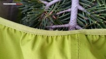 Haglöfs Gram Comp Jacket: Peeling superficial en la goma tensora de la cintura.