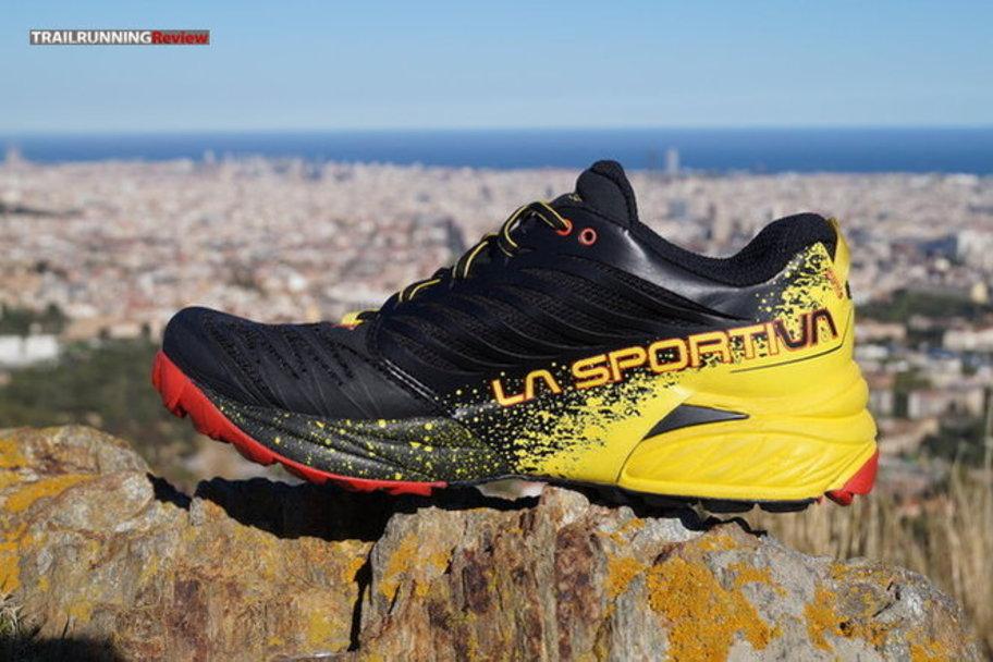 detalles de la sportiva akasha hombre azul trail running