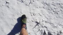 Con las primeras nieve pudimos correr por montaña con los pies calientes