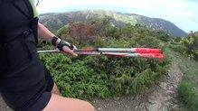 Leki Micro Trail: Leki Micro Trail, el sistema de la empuñadura permite correr con ellos sin quitarse las dragoneras.