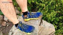 Montrail Trans Alps: Montrail Trans Alps: cordones muy largos, sin bolsillo para guardarlos
