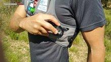 RaidLight Responsiv 15L: bolsillo lateral con boca estrecha