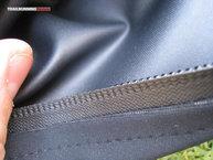 Detalle de los tejidos del bolsillo
