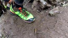 Salming Trail 5: SALMING TRAIL 5: Ascenso solvente sobre superfícies muy humedas/mojadas, en la Canal de Sant Jeroni, en la Montserrat Skyrace