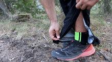 Salomon Bonatti WP Pant: La cremallera de la parte inferior es ideal para no tener que descalzarse al utilizarlos