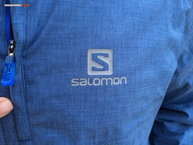 Salomon Park WP Jacket: cremallera y logo reflectante