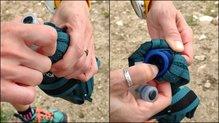 Salomon Pulse Handheld: Salomon Pulse HandHeld: rellenarlo tiene su protocolo y hay que hacerlo tranquilo para no desbordar el líquido