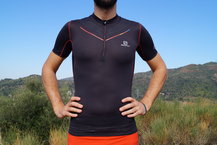 Frontal de Camisetas: Salomon - S-Lab Exo Zip Tee