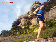 Salomon Trail Runner Sleveless Tee: Salomon Trail Runner Sleveless Tee: In action
