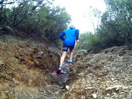 Salomon XA Enduro: Salomon Trail Runner Warm: Buena respuesta en roca mojada
