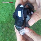 Silva Trail Runner II USB: Botón único de grandes dimensiones y fácil de encontrar y pulsar