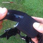 Silva Trail Runner II USB: Interior de cinta y petaca provistos de silicona