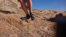 Topo Athletic Terraventure: El pie se mueve dentro de las Topo Athletic Terraventure, es este tipo de pasos.