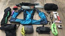 Ultimate Direction Mountain Vest 4.0: Todo esto hemos transportado.. y nos sobró espacio