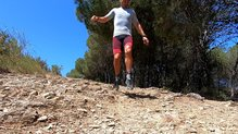 X-Bionic Effektor 4.0 Run Shorts:  X-Bionic Effektor 4.0 Run Shorts, en acción.