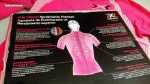 X-Bionic The Trick Running Shirt LS W: Caja X-Bionic The Trick Shirt LS W, estructura camiseta.