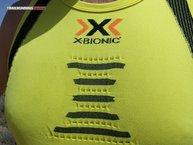 X-Bionic The Trick Running Shirt Singlet: Detalle del 3D BionicSphere System que nos ayuda a rebajar la temperatura del cuerpo