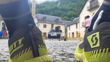X-Socks Run Speed One: X-Bionic Run Speed One , esperando en la salida.