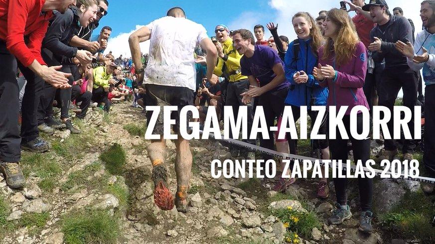 Zegama-Aizkorri conteo de zapatillas Trail Running 2018 Todas las marcas y modelos de zapatillas de Trail Running utilizadas para correr la carrera de monta´ña Zegama-Aizkorri en 2018